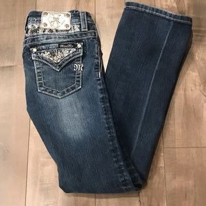 Miss Me Boot Cut Jeans (Girls) Size 12